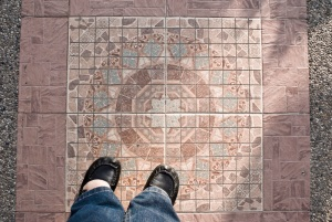 sidewalk pavement.. pretty mosaic