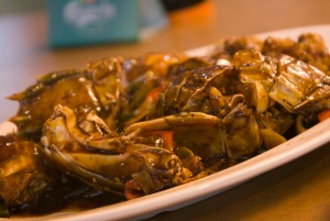 mantis prawn in black pepper sauce