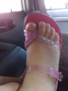 her new sandals